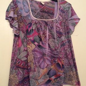 Susan Lawrence Boho Top M